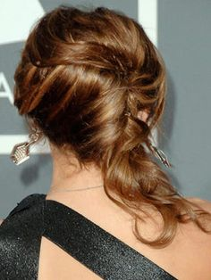 Soft French Twist Step 1 Curl Random Sections Of Hair