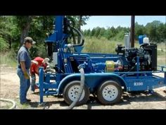 RockBuster R100 Portable Water Well Drilling Rig - YouTube