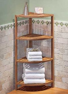 bamboo corner shelf.
