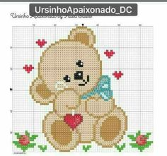 Thrilling Designing Your Own Cross Stitch Embroidery Patterns Ideas. Exhilarating Designing Your Own Cross Stitch Embroidery Patterns Ideas. Cross Stitch Cards, Cross Stitch Baby, Cross Stitching, Cross Stitch Embroidery, Embroidery Patterns, Pixel Crochet Blanket, Tapestry Crochet, Crochet Cross, Crochet Bear