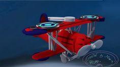 3d modeling a waco plane