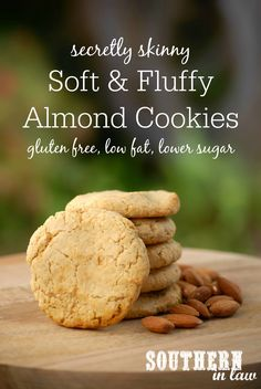 Soft and fluffy Almond Cookies that are buttery and full of almond flavour but way better for you?! This Secretly Skinny Almond Meal Cookie Recipe is low fat, gluten free, low sugar and one of the best healthy cookie recipes!