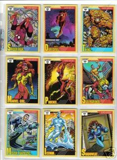 Marvel Trading Cards - I had ALL these.