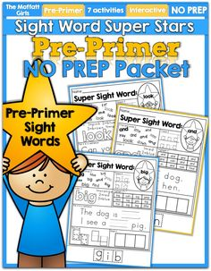 This Sight Word Super Stars NO PREP Packet is both EFFECTIVE and FUN for Preschool students as they learn to read and master sight words!