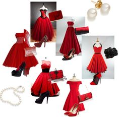 Red Dresses, created by samanthabarowsky on Polyvore