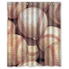 Special Custom Vintage Baseball Mildrew Resistant Shower Curtain X