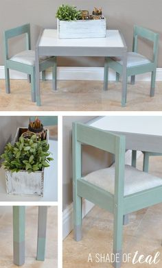 IKEA Hack- Latt Kids Table Makeover & Ikea Hack: Latt Children\u0027s Table Set! - | Ikea hack Contact paper ...