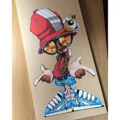 Bboy on wood. Graffiti Art, Graffiti Pictures, Graffiti Cartoons, Graffiti Characters, Graffiti Styles, Graffiti Lettering, Cartoon Kunst, Cartoon Art, Art Sketches