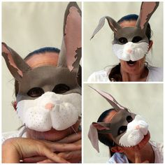 Felt Bunny Rabbit Mask PATTERN. Instant Download by EbonyShae