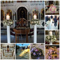 """Στολισμός γάμου στον Άγιο Νικόλαο Γλυφάδας. Στράτος & Julia!   """"Ευχές με πεταλούδες"""" Γάμος- βάπτιση-διακόσμη με φυσικά λουλούδια.  Σεϊζάνη 3 Ν.Ιωνία Αττικής Τηλέφωνο: 211-4014023 www.grgamos.com"""