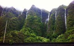 Kailua, O'ahu. The Mountains I see right out my window and the waterfalls from…