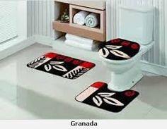 Resultado de imagem para conjunto tapete para banheiro em agulha magica