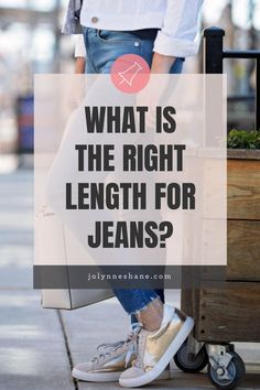 This is a question I get ALL the time, so I'm breaking it down. Talking about the right length for skinny jeans, straight leg jeans, and bootcut jeans. Plus what shoes work best with each style and length. Click through for lots of pictures and examples!!!