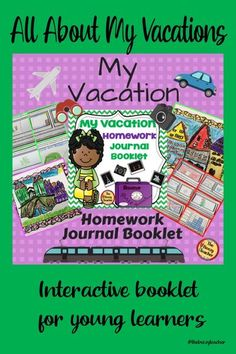Do you have parents who call at the last minute to let you know they are going on an extended vacation and need their child's work they will miss while they are gone? In lieu of gathering their missed assignments, why not assign them a vacation journal to record their travels? This journal will provide the student to record their vacation trip and share with the class upon their return. Simply print, cut the pages in half and staple into a booklet. Teaching Schools, Elementary Schools, Teaching Resources, Teaching Ideas, Working With Children, Holiday Activities, Best Teacher, Vacation Trips, Booklet