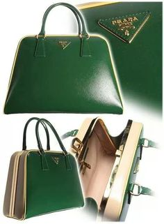 Dark Kelly Green Prada Bag Investing in a classic designer (Prada) bag with  strong structure and clean lines will last you a long time f2cccc34eb2fe