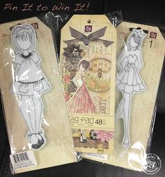 Who wants to win two hard-to-find Julie Nutting Doll Stamps and a Tag Pad? Just Pin it tagging @Alexandra Prima Marketing -then leave a comment here! We will pick a winner next Friday, May 17th! Open to all countries. Void where prohibited.