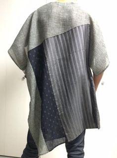 古布(kimono)チュニック グレー系|ワンピース・チュニック|きぬあわせ|ハンドメイド通販・販売のCreema