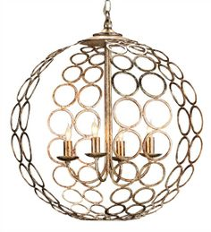 Tartufo Chandelier Lighting | Currey and Company