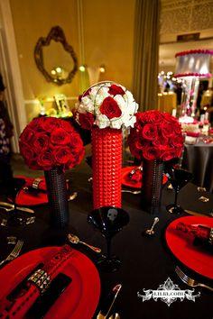 Punk Rock Wedding - love the studded napkin rings!