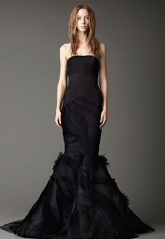 Black Wedding Gown: Vera Wang Mermaid