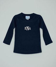 Navy Monogram Tee - Infant, Toddler & Boys