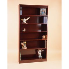 "NORSONS INDUSTRIES LLC Excalibur Heavy Duty Shelf Series Standard Bookcase Finish: Medium Cherry, Size: 72"" H x 36"" W x 12"" D"