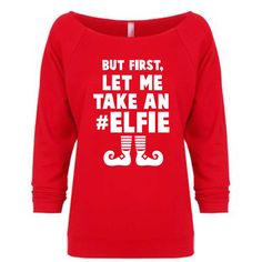 But First Let Me Take an Elfie sweatshirt.selfie Christmas sweater.let... ($22) ❤ liked on Polyvore featuring tops, hoodies, sweatshirts, black, sweaters, women's clothing, black shirt, checked shirt, sweat shirts and off the shoulder sweatshirt