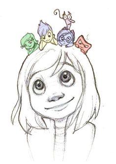 Pixar& Inside Out von loofa-art - - Disney - Pixar& Inside Out von loofa-art – - Disney E Dreamworks, Disney Pixar, Disney Characters, Disney Fan Art, Disney Art Diy, Disney Ideas, Cool Art Drawings, Art Drawings Sketches, Cartoon Drawings