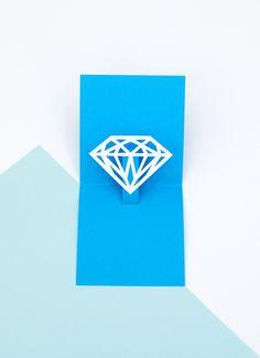 pretti paper, you're a gem, pop up cards, popup card