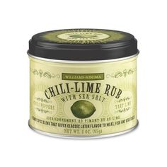Add flavor instead of fat with Williams-Sonoma Chili-Lime Rub. It's great on poultry, fish, bread, air popped popcorn and much more!