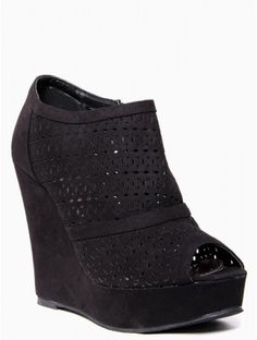 Cut Out Perforated #Wedge #Shoe