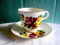 Vintage Tea Cup Sets   Vintage Tea Cup Tea Set Teacup English Rose Tea cup Vintage Bone China ...
