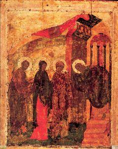 """"""" La Présentation au temple """"1405, Andreī Roublev"""
