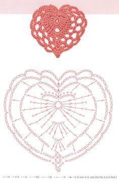 Hearts crochet patterns free