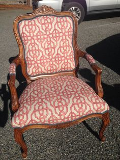 Another Amazing Transformation From The Workroom. Our Customer Chose To  Have Her Chair Reupholstered With