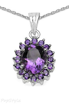 Genuine Amethyst Necklace #FK #fashionkiosk #jewellery