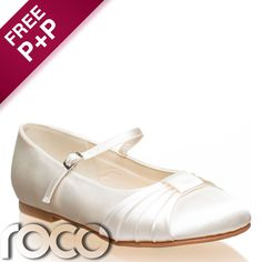 Girls Ivory Shoes, Communion Shoes, Flower Girl Shoes, Bridesmaid Shoes #Ballet