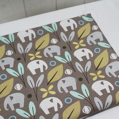 f38972d1980 Items similar to Elephants Cotton Fabric - Light Brown - By the Yard 43334  on Etsy
