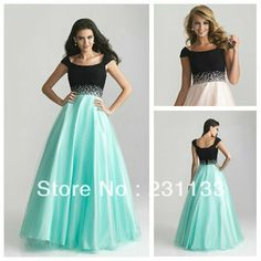 New Fashion 2014 Beaded Waistline Pink Turquoise Purple Organza Modest Ball Gown Prom Dresses With Sleeves New Arrival