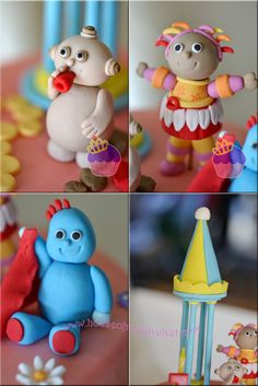 In the Night Garden cake toppers Garden Birthday Cake, First Birthday Cakes, 2nd Birthday Parties, Birthday Ideas, Garden Cakes, Character Cakes, Fondant Figures, Novelty Cakes, Celebration Cakes