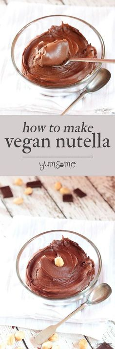 Made with just half a dozen ingredients, and ready in half an hour, this vegan 'Nutella' is really easy to make, and healthier than its shop-bought counterpart. | yumsome.com