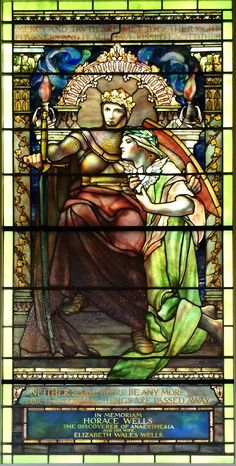 Stained glass window by Tiffany