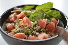 Thaise rijstsalade met grapefruit en snijbonen - Healthy Vega