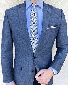 Handsome assortment of menswear blues.
