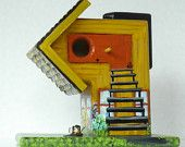 Funky Birdhouse , Handmade , Hand Painted , Unique , One of a Kind , Eco Friendly