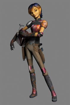 Sabine is a new character from Star Wars Rebels, the new animated series coming out in Fall 2014!! Begins 18 years after the start of the Galactic Empire in Revenge of the Sith!