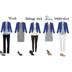 """Cobalt blue blazer"" by hii-live on Polyvore"