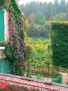 #LivingLifeInFullBloom #Monet'sPassion #ElizabethMurray View-from-my bedroom-Window into Monet'sGarden