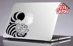 Cheshire Cat Macbook Air Pro Decal Sticker Alice in Wonderland 0015mac by FunDecalFactory on Etsy