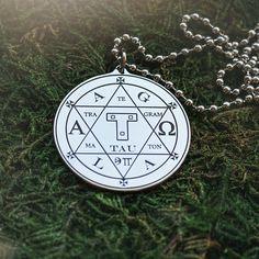 Hexagram of Solomon Seal kabbalah amulet pendant